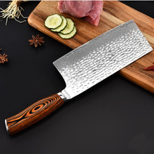 Liang Da 7 inch Butchers Cleaver Kitchen Knife 67 Layer Damascus Stainless Steel Chinese Chopper Knives with Pakka Wood Handle