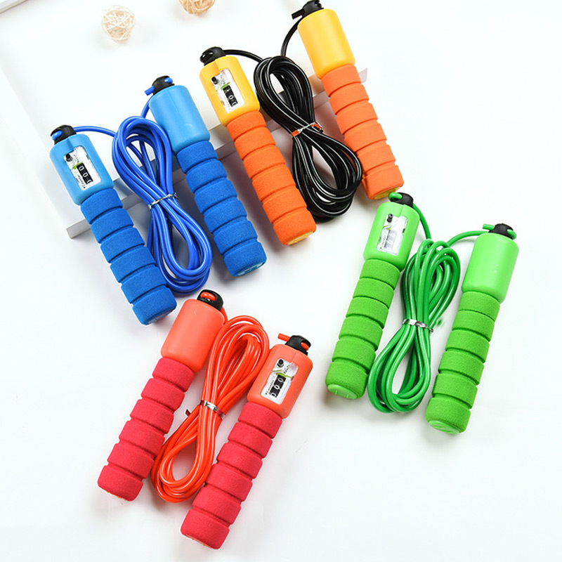Jump Ropes with Counter, Adjustable,  Counting Jump Skip Rope Skipping Wire 3