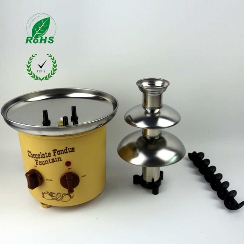 220V 3 Layers Household Mini Stainless Steel Chocolate Fountains Machine Chocolate Waterfall Maker Machine For Family Party