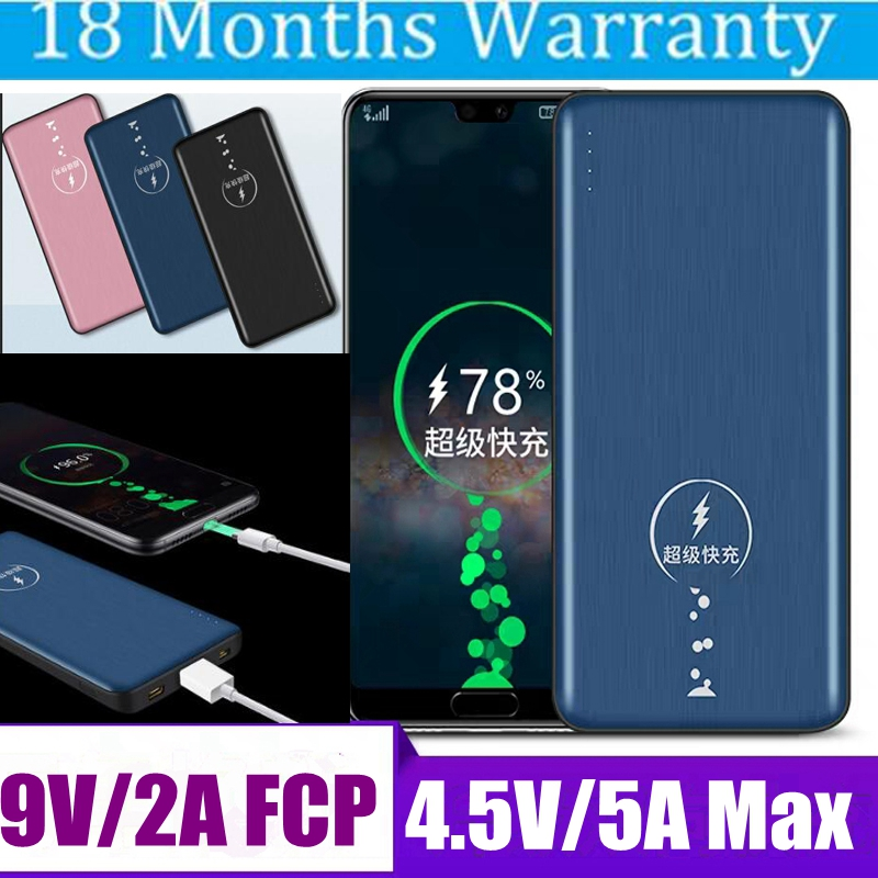 Supercharge batterie externe 10000 mah SCP Super Charge Powerbank 5A FCP 9 V 2A chargeur Portable pour Huawei P20 Pro P10 Xiaomi iPhone