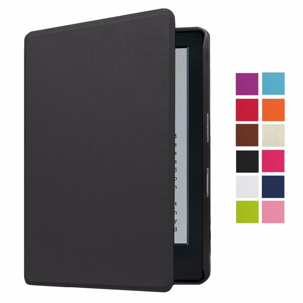 New Luxury Ultra Thin Slim Magnetic Folio Flip Leather Case Smart Sleeve Cover For Amazon New Kindle 2016 8th Generation Ebook ultra slim ebook case for amazon kindle 8 8th generation 2016 fundas pu leather flip cover cross lines hard shell ereader cases