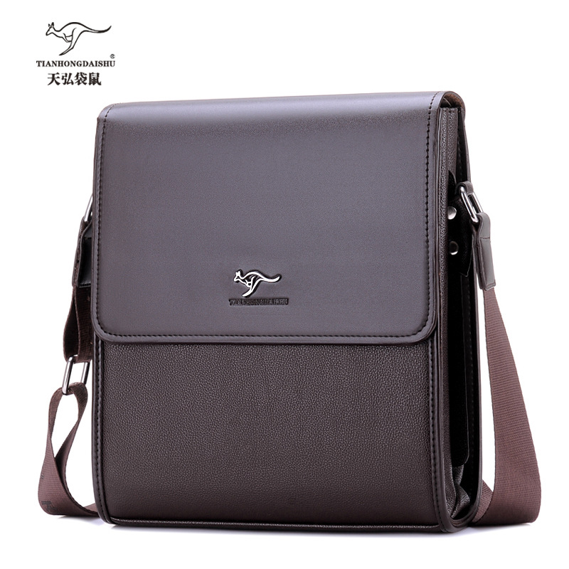 2017 new men's Cover leather briefcase messenger