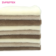 ZYFMPTEX Cheap Promotion Gift 5mm Super Velboa Plush Fabric 9PCS/Lot 45X50CM Harmless Polyester Material For Making DIY Fabric