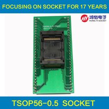 2 pcs / lot ANDK TSOP56 Opentop Programming Socket 0.5 IC Test Socket Flash Burn in Socket Adapter High Quality Eletronic tsop56 tsop ots 56 0 5 003 enplas ic test burn in socket programming adapter 18 4mm width 0 5mm pitch