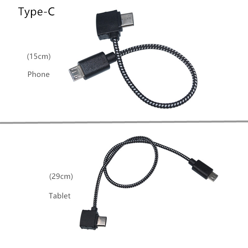 Remote Control Data Cable Type-C  LightningMicro USB port Connecting Phone Tablet Connector Nylon Line For DJI Spark Drone Accessories 1 (10)