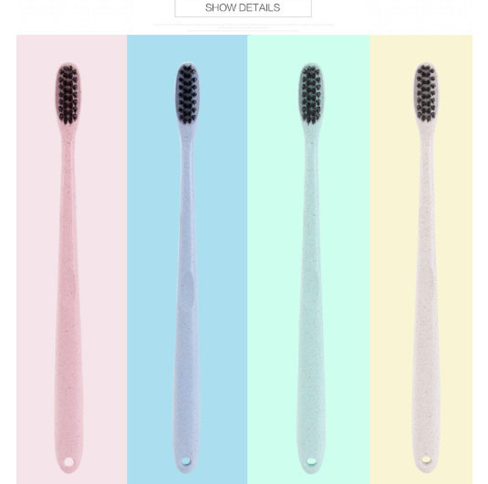 Toothbrush Personal care appliance pappus Oral clean apparatusAdult  bamboo charcoal toothbrush wheat straw single package
