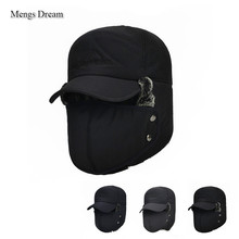 Men's Ear Protection Face Bomber Hats PUBG Cap Thicker Plus Velvet Warm Woman Winter Hat Ski Cap Resist The Snow Male Bone Cap