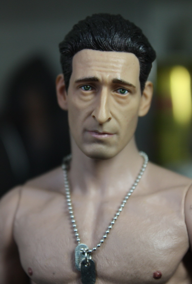 1/6 figure doll head shape for 12 action figure doll accessories The Pianist Adrien Brody Head carved not include body,clothes 1 6 figure doll head shape for 12 action figure doll accessories game of death bruce lee head carved not include body clothes