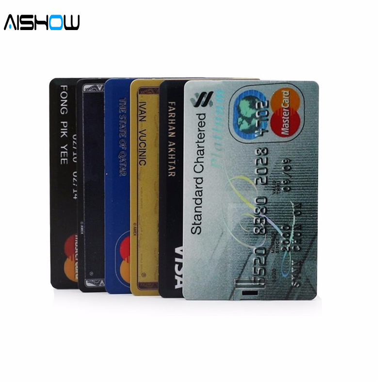 Ny ankomst 100% Kapacitet kreditkort modell 4GB 8GB 16GB 32GB USB 2.0 - Extern lagring - Foto 3