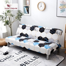 Slowdream Removable Sofa Bed Cover Nordic Folding Without Armrest Double Three Seat Stretch Elastic Band Decor Couch