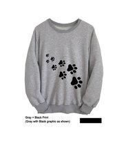 Cat TShirt Cute Sweatshirt Cat Paw Womens Long Sleeve Tee Mens T-Shirts Unisex Graphic Tee Cotton Crewneck Jumper College-E012 ferrari unisex cotton crewneck tee red s