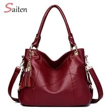 Luxury Designer Women Leather Handbag Vintage Female Shoulder Bag Tassel High Quality Handbags Ladies Large Tote Bags Sac a Main цены