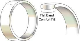 8mm žene muške zlatne boje saveza volfram karbid vjenčani prsten - Modni nakit - Foto 5