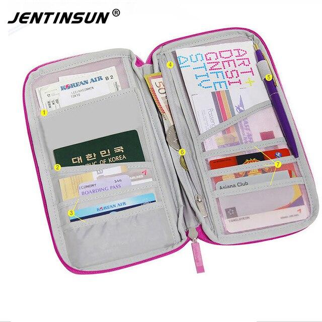 Passport Cover Credit Card Passport Holder Travel Wallets Purse For Documents Ticket Storage Organizer Clutch Money Bag