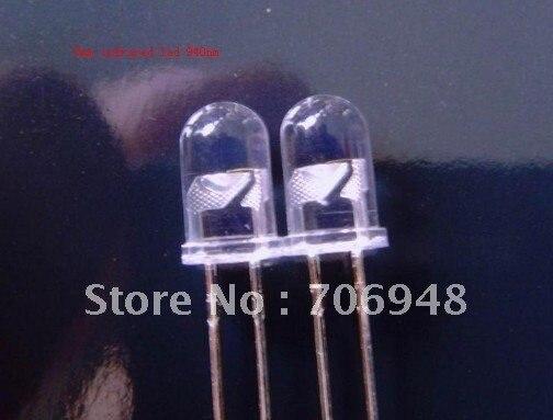 100 шт./лот инфракрасный ИК-излучатель светодиодов 5 мм 940nm длительный срок службы