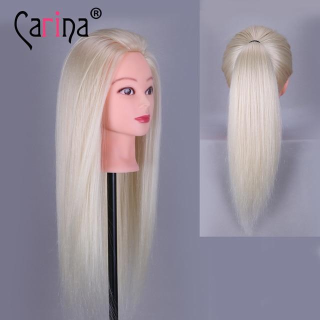 Us 322 Big Verkauf Professionelle Styling Kopf Mit Blonde Haar 55 Cm Dicke Haarperücke Köpfe Für Friseure Ausbildung Mannequinkopf In Big Verkauf