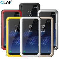 OLAF Full Protective Armor Heavy Duty Case Metal Case Shockproof Cover For Samsung S8 S8Plus S7