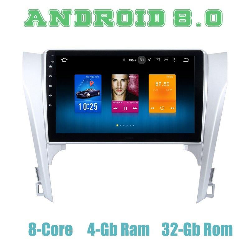 Octa core PX5 Android 8.0 GPS per auto radio player per Toyota camry 2012-2014 con 4G di RAM wifi 4g usb auto Multimedia