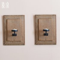 Solid wood wall sconces creative retro family home decorations Chinese restaurant soft wall mounted pendant