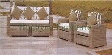 Outdoor garden sofa set furniture in rattan material garden sofas
