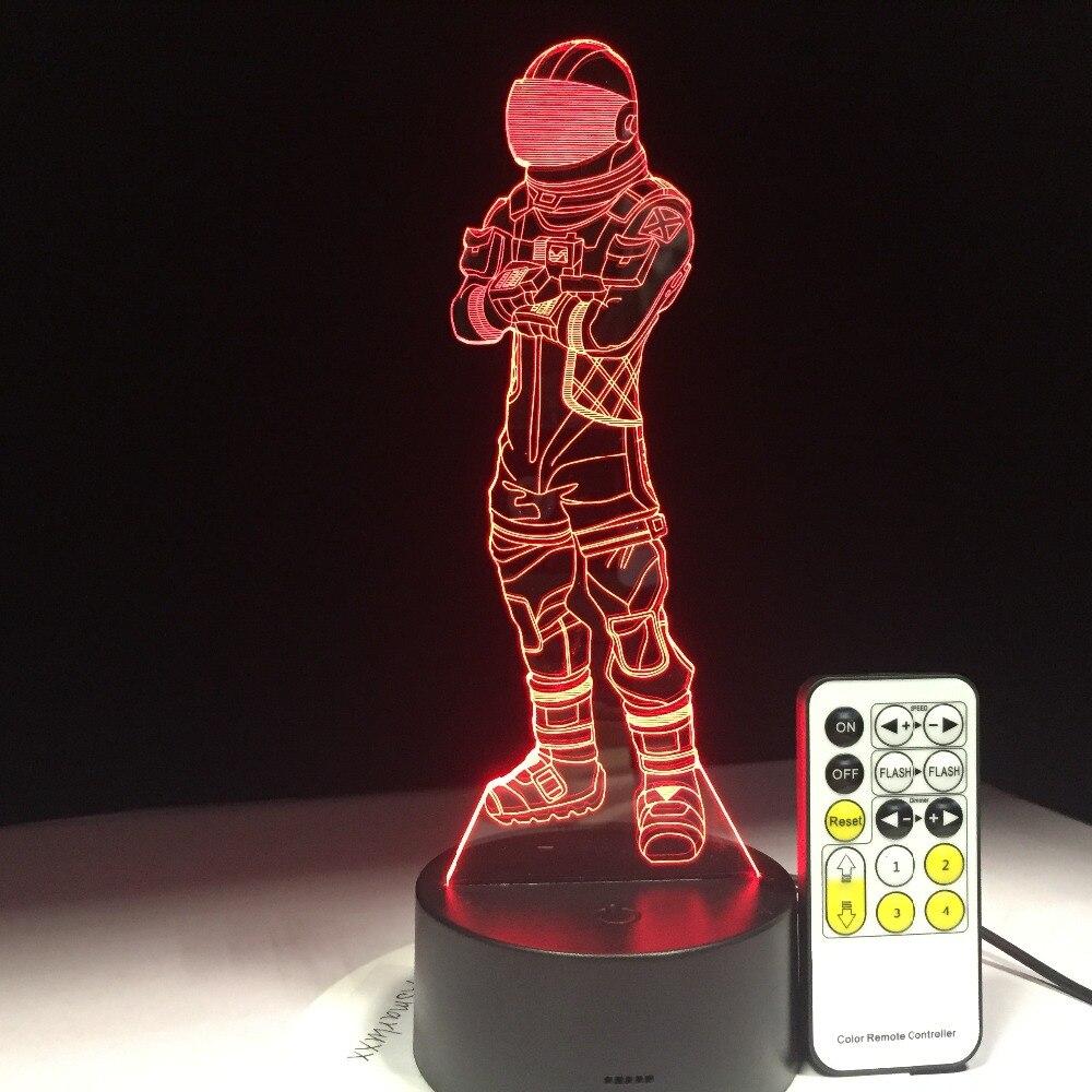 Scuro Voyager Gioco 3D Lampada Arylic Cristallo RGB Variabile Lampada di Umore del LED 7 Colori della Luce di Notte per il Regalo Di Festa Di Compleanno nave di goccia