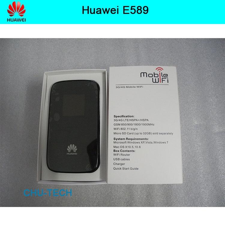 Débloqué Huawei E589 LTE 4g wifi routeur 3g 4g wifi dongle 4g sans fil routeur E589u-12 4g mifi poche pk e5573 e5756 e5377 e5220