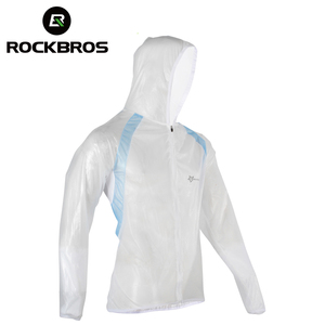 Image 2 - ROCKBROS Waterproof Hiking Jackets TPU Raincoat Cycling Jersey Rain Coat Bike Bicycle Jersey Fishing Men Women Camping Jackets