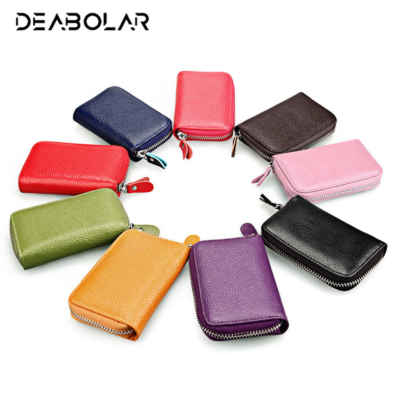 Mini Cute Women Zipper Genuine Cowhide Leather Wallets Small Ladies Fashion Card Holders Purse with Coin Pocket for Gift simline fashion genuine leather real cowhide women lady short slim wallet wallets purse card holder zipper coin pocket ladies