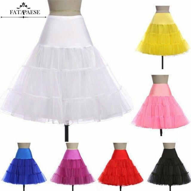 Adult Women Tutu Skirts 50s Vintage Crinoline Underskirt Rockabilly Tutu Short Bridal Petticoats Girl Tulle Party Skirts