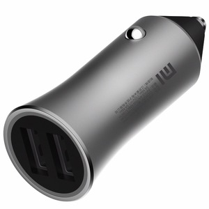 Image 4 - Original xiaomi car charger fast charge version 18W support 18W fast charge dual USB smart output light tips brass shell