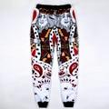 Lo nuevo divertido 3d hombres/boy pantalones basculador naipes k rey/q reina poker cara pañuelo paisley pantalones de chándal hip hop pantalones casuales
