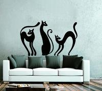 Cat Wall Decals Art Stickers Vinyl Decal Baby Nursery Bedroom Home Decor