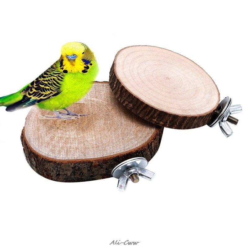 Parrot font b Pet b font Bird Chew Toy Wooden Hanging Swing Birdcage Parakeet Cockatiel Cages