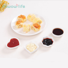 2Pcs Creative White Ceramic Sauce Dish Kitchen Vinegar Small Soy For Special