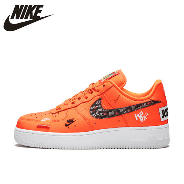 Original New Arrival Authentic Nike Air Force 1 '07 Just Do It Af1 Women's Skateboarding Shoes Sneakers QT02 UP US Size W