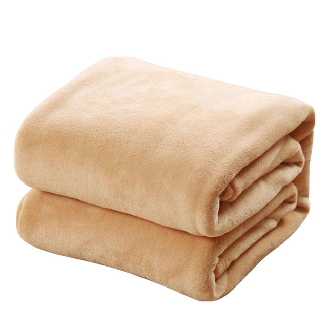 CAMMITEVER Super Warm Soft Home Textile Blanket Solid Color Flannel Blankets Throw on Sofa/Bed/Travel Plaids Bedspreads Sheets