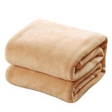 CAMMITEVER süper sıcak yumuşak ev tekstili battaniye düz renk pazen battaniyeler atmak kanepe/yatak/seyahat kareli yatak örtüleri levhalar