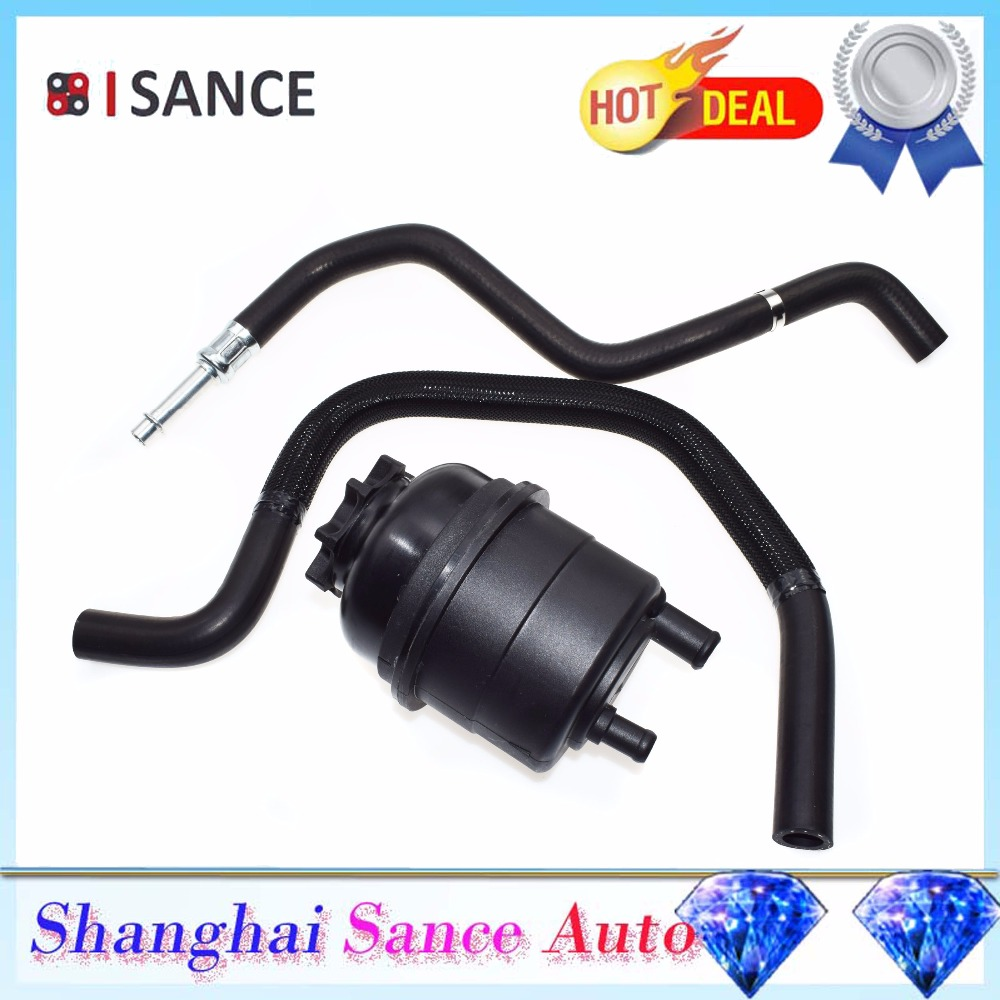ISANCE Power Steering Reservoir Expansion Tank Pressure Return Hose For BMW E36 E46 E28 E39 E53