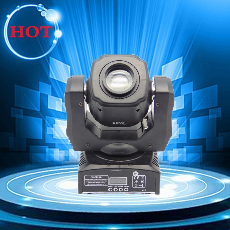 60 w spot led tête mobile de gobo lumières avec le contrôle de DMX pour projecteur l'éclairage d'étape de dj