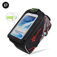 RockBros Waterproof Bicycle Bag Touchscreen 4 8 6 Mountain Road Bike Bag Front Frame Tube Cycling
