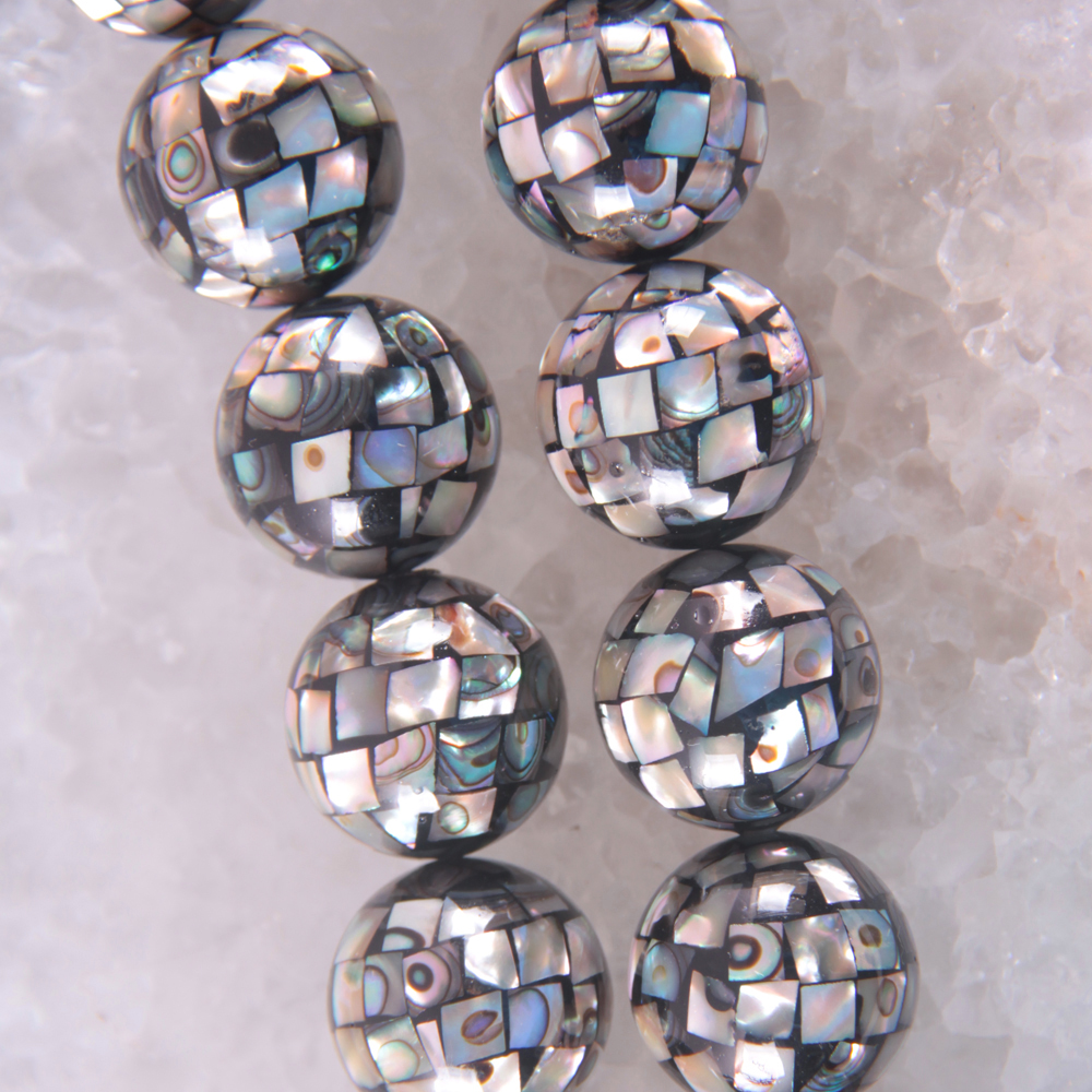 Natural 20MM Blue New Zealand Abalone Shell Round Loose Beads Free Shipping O125