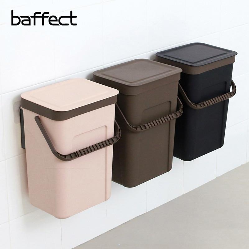 Garbage Box Trash Bin Cabinet Door Hanging Storage Portable Plastic Kitchen Wall Mounted Debris Box Trash