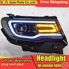 Auto. pro Auto Styling voor Jeep compass Koplampen 2017 2018 voor kompas LED Koplamp Lens Dubbele Beam H7 HID Xenon bi xenon lens
