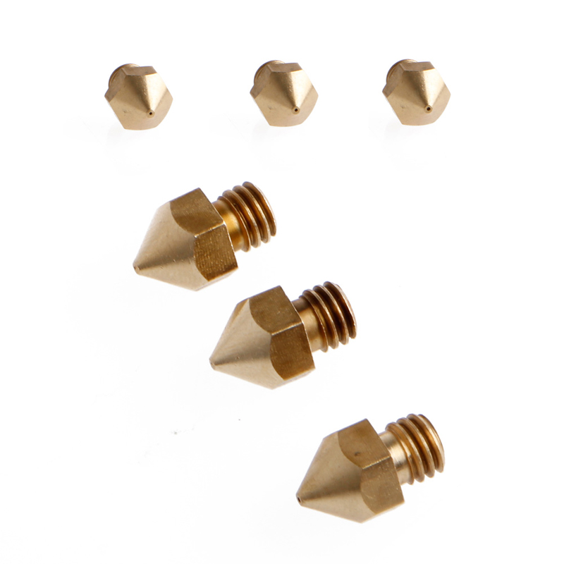 0.5 mm ABS/PLA Material MK8 Extruder Aluminum Extrusion Brass Nozzle Print Head for 1.75mm 3mm 3D Printer Accessories #C