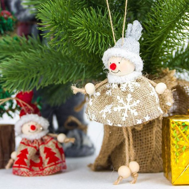 Us 1 05 25 Off New Year Christmas Decor For Home Santa Snowman Pendant Christmas Ornaments Merry Christmas Tree Outdoor Christmas Decorations In