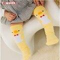 Bonito Algodão Macio Kawaii Meninas Meninos Sock Pato Pinguim Design Padrão Catoon Crianças Meias meias Bebê Bebê Meias Longas