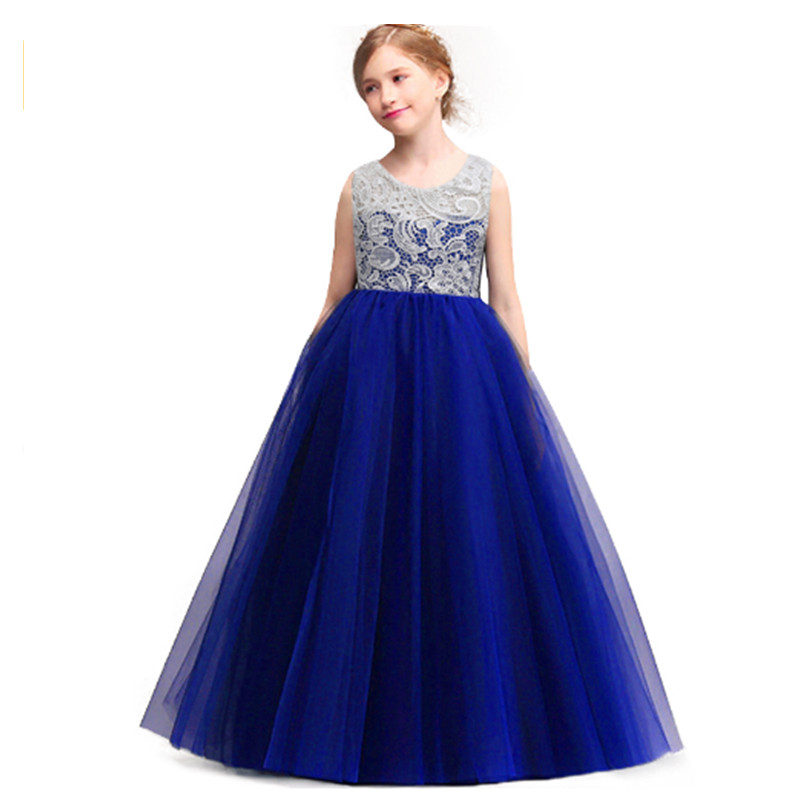 Kids Wedding Summer Party Dresses For Girls Birthday Princess Clothes Children Toddler Elegant Formal Vestido Infant 3-14 yrs summer dresses for girls 2016 kids clothes evening party princess dress children flower wedding vestido coat 2 piece set