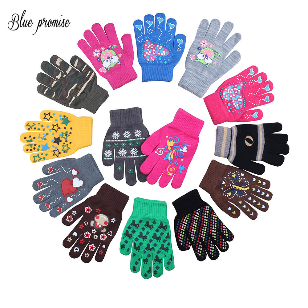 child  gloves toweled super warm super wear-resistant Cute Bunny cartoon