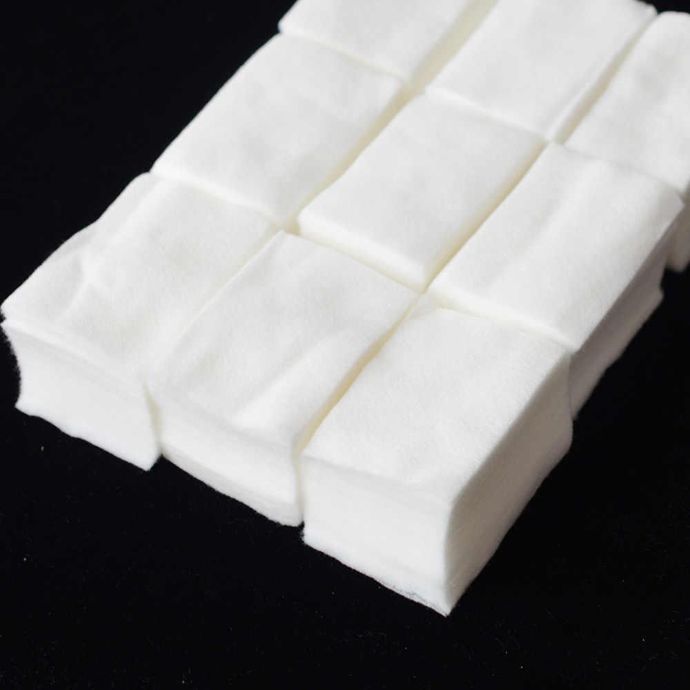 900 adet/paket Oje Çıkarıcı Mendil Saf Pamuk Lint Kağıt Pedi Manikür Araçları için UV Jel Cila Sökücü Sarar Temizleyici CH253