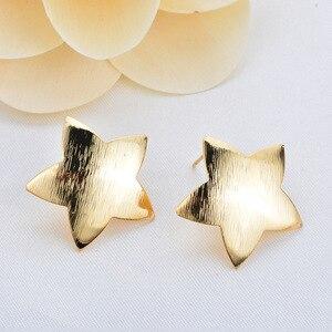 Image 2 - 30 pcs vàng tam giác vuông sao Bông Tai Drop bling Ear Studs Kết Nối Bài Viết Chân Cơ Sở Cài Đặt Trang Sức Làm handmade TỰ LÀM